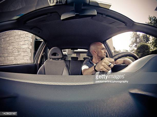 Man ready to drive