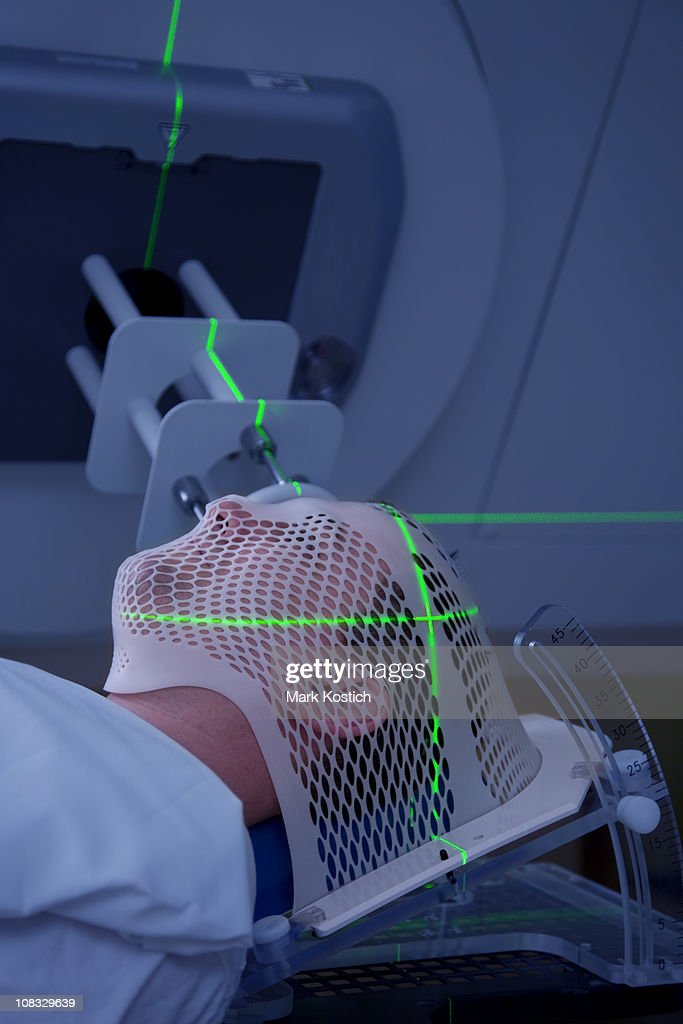 Man Receiving Radiotherapy Treatments for Cancer