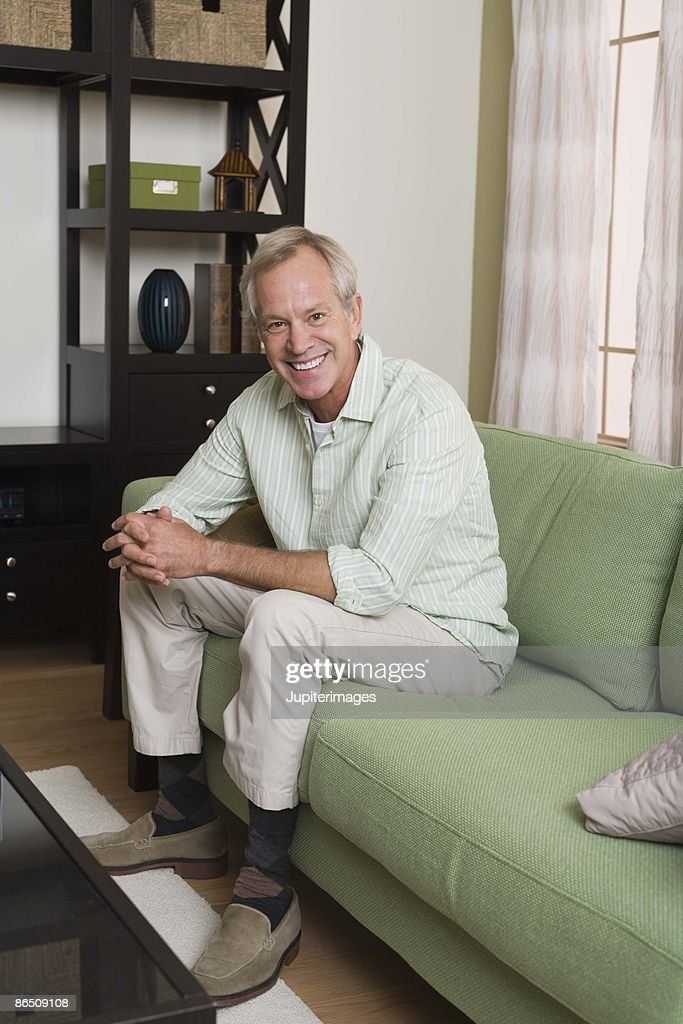 Man relaxing at home : Stock Photo