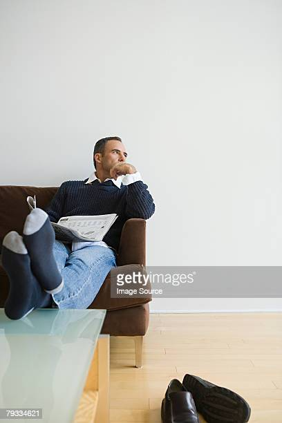 Man relaxing