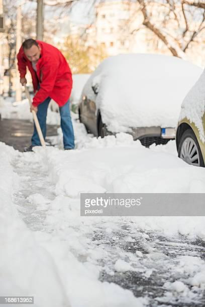 Mann, entfernen Schnee