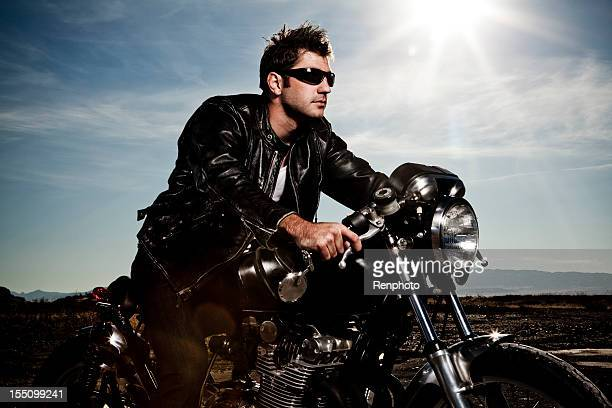 Man Riding His Motorcycle