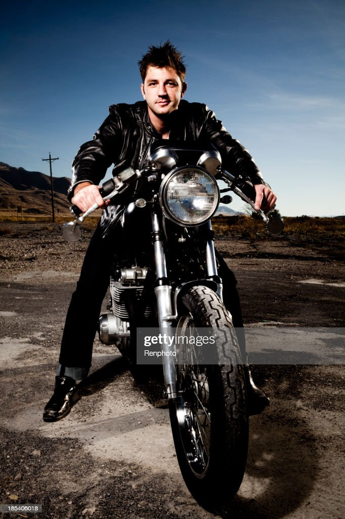 Man Riding His Motorcycle