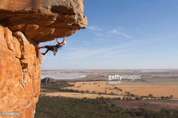 Man rockclimbing
