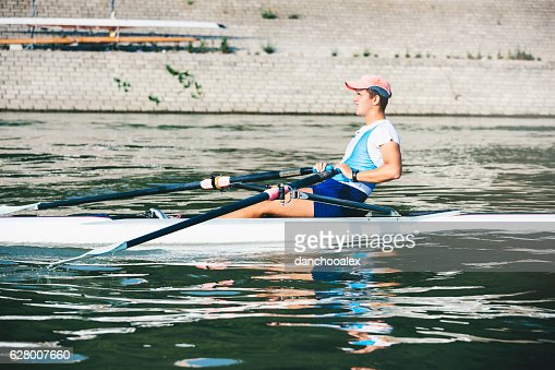 Man rowing on a river