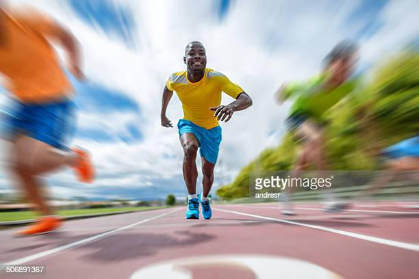 Man running at a marathon