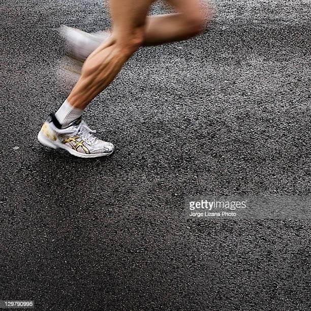 Man running at race