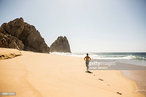 Man running in Mexico.