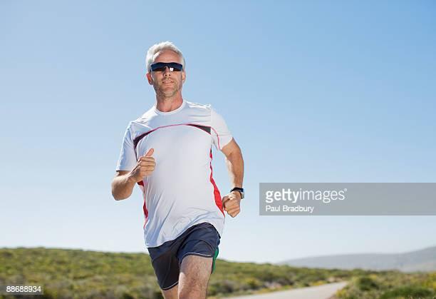 running homme, dans la région