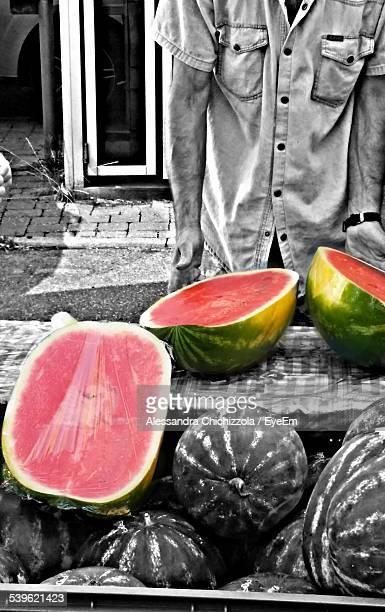 Man Selling Watermelons