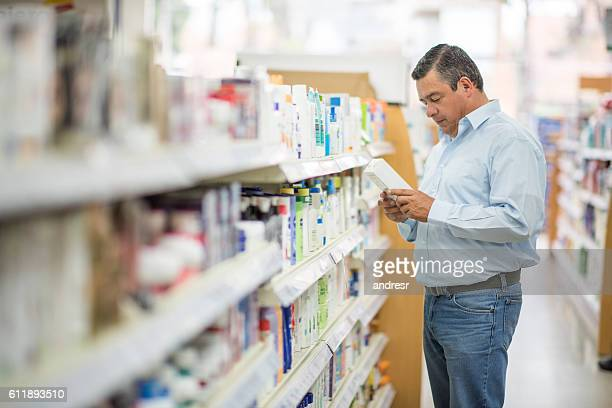 Man shopping at the pharmacy