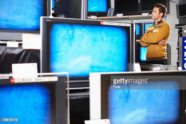 Man Shopping for a Television