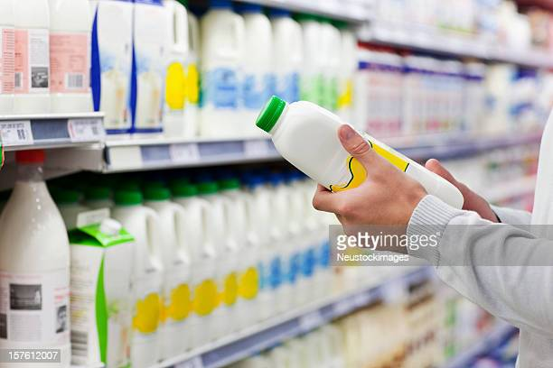 Man Shopping for Milk