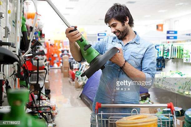 Man shopping hardware store