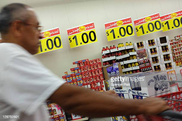 A man shops at a discount grocery store in downtown Reading on October 19 2011 in Reading Pennsylvania Reading a city that once boasted numerous...