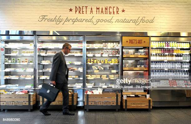 A man shops in a Pret A Manger store in Melcombe Street in central London Filipino fast food group Jollibee Foods Corp is reportedly eyeing a...