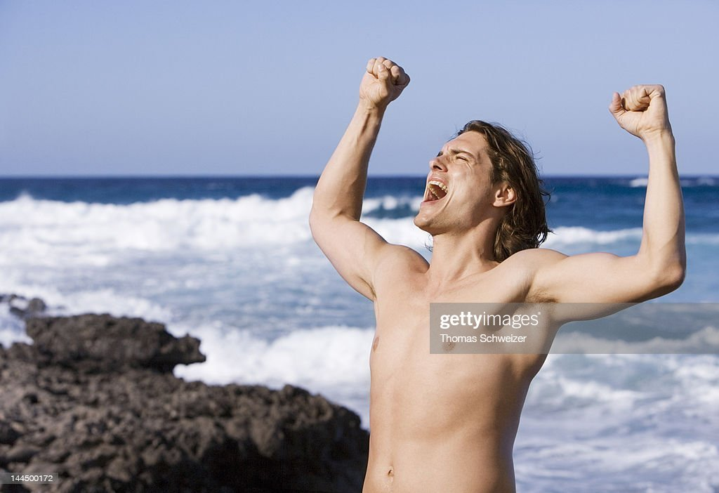 A man shouting : Stock Photo