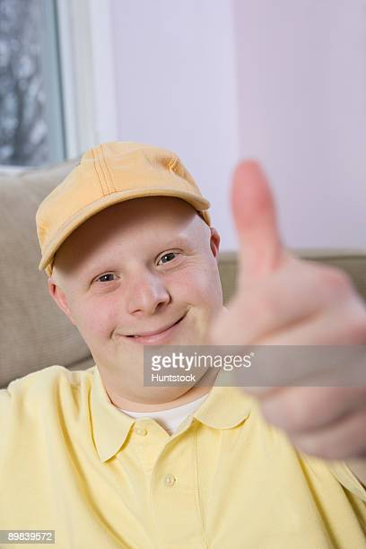 Man showing Thumbs Up sign