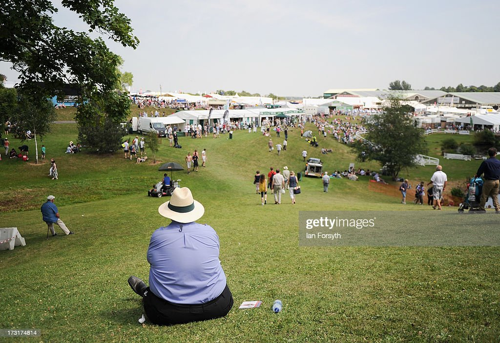 A man sits and rests as he looks out over the tents at the Great Yorkshire Show on July 9, 2013 in Harrogate, England. The Great Yorkshire Show is the UK's premier agricultural event and brings together agricultural displays, livestock events, farming demonstrations, food, dairy and produce stands as well as equestrian events to thousands of visitors over the three days.