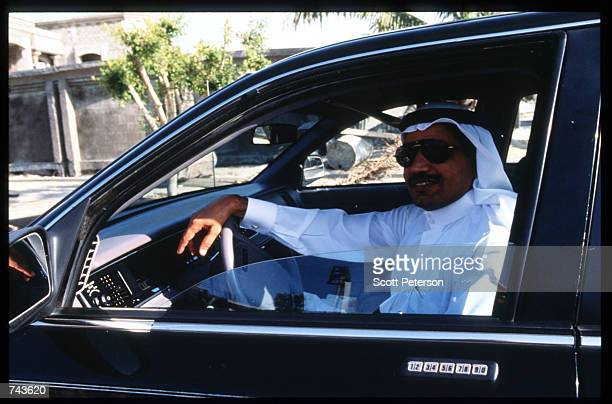 A man sits in an airconditioned car July 15 1996 in Jubayl Saudi Arabia Possessing twentyfive percent of the world's oil reserves and the Islamic...