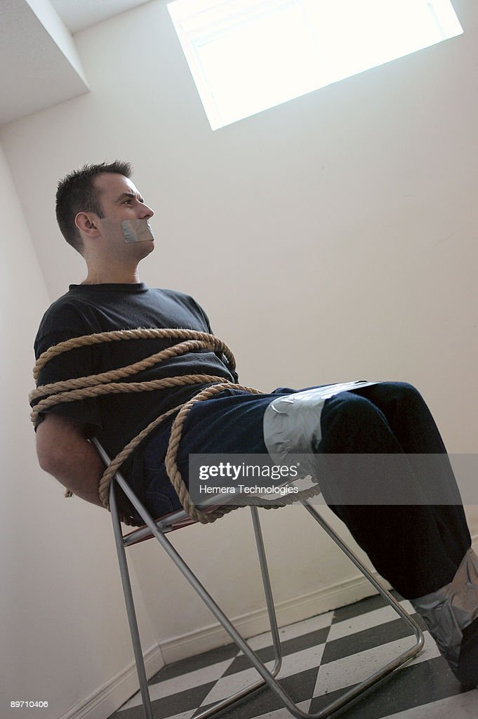 Men tied and gagged