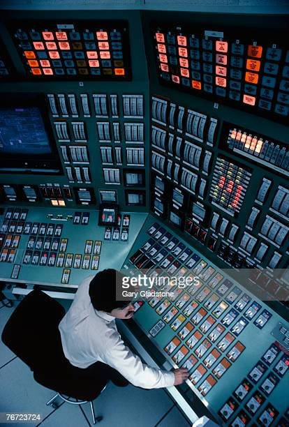 Man sitting in a control room