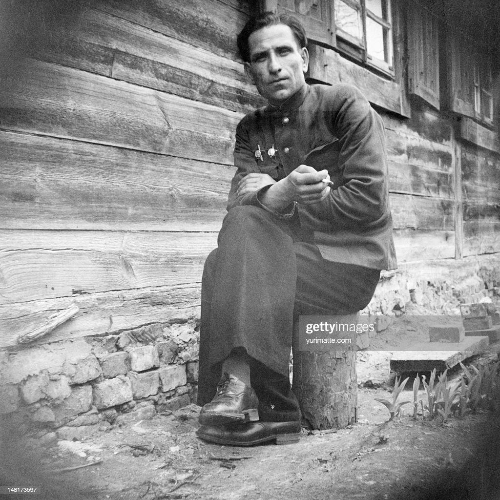 Man sitting : Stock Photo