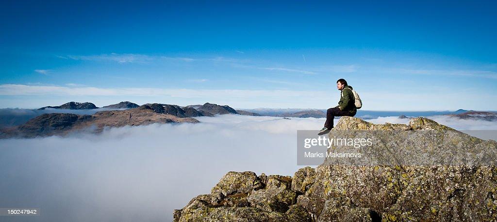 Man sitting up : Stock Photo