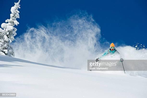 Man skiing, Alta, Utah