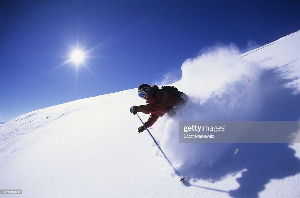 Man skiing in Colorado.