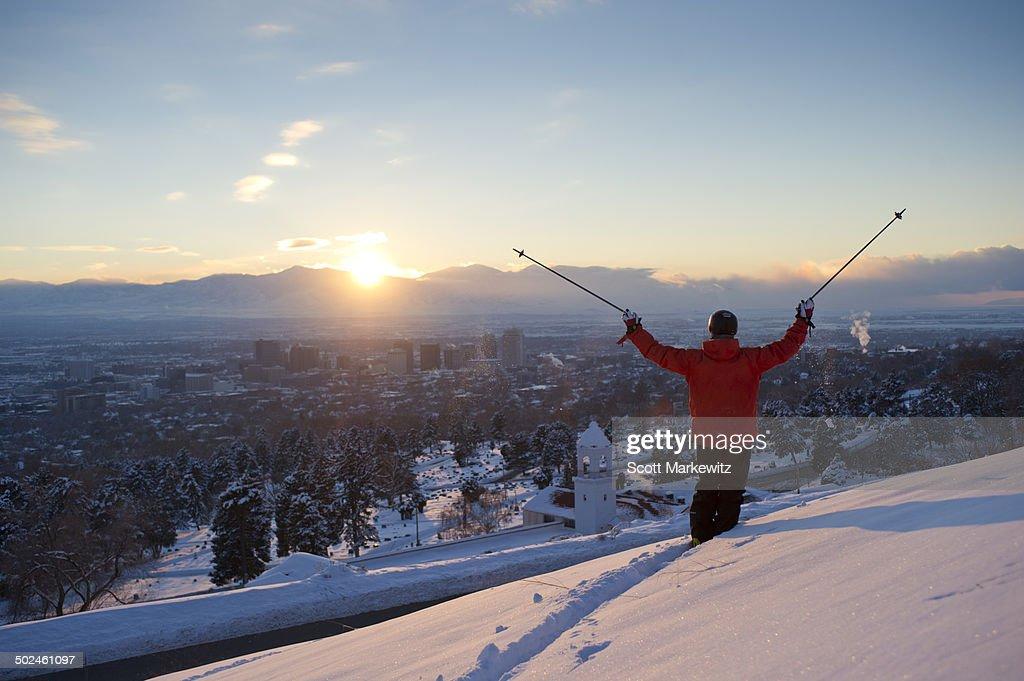 Man skiing in Utah