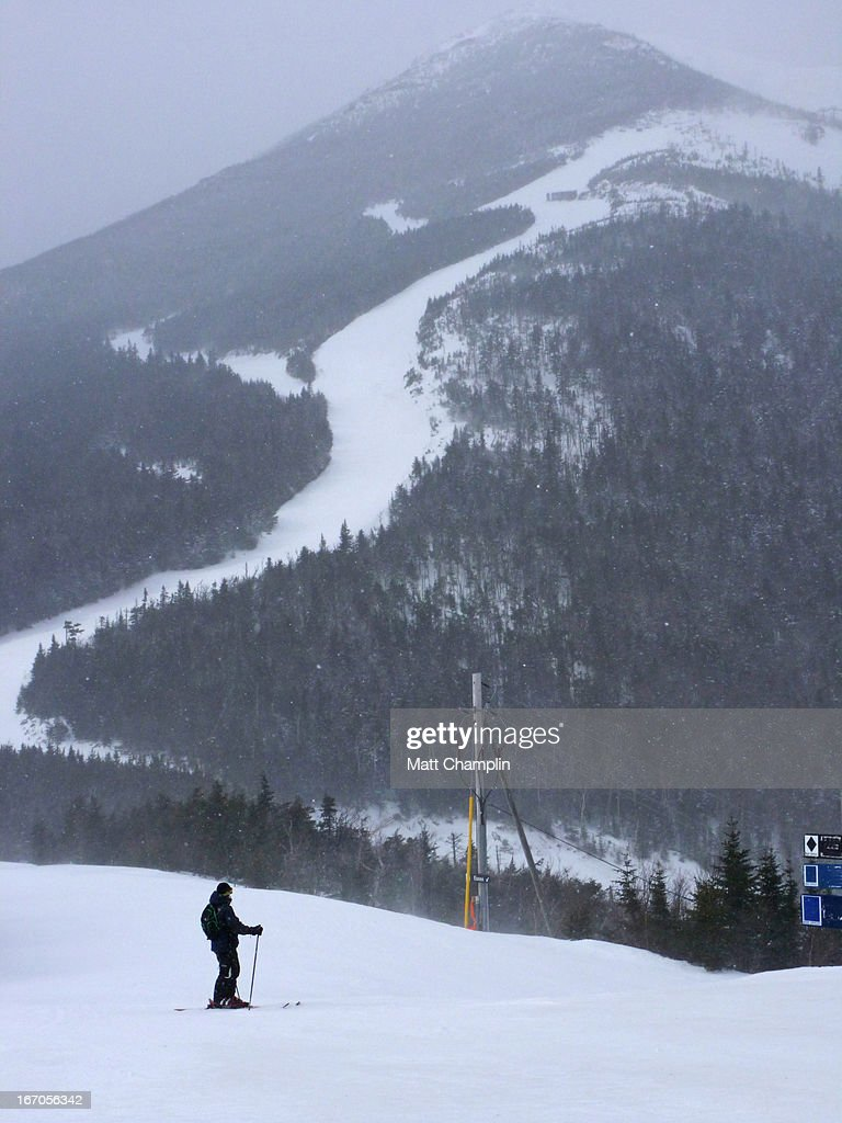 Man Skiing on Whiteface Mountain