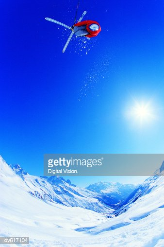 Man Skiing : Stockfoto