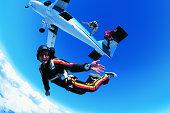 Man Skydiving