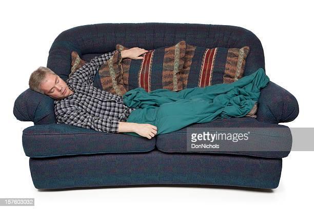 Homem em um Sofá-cama