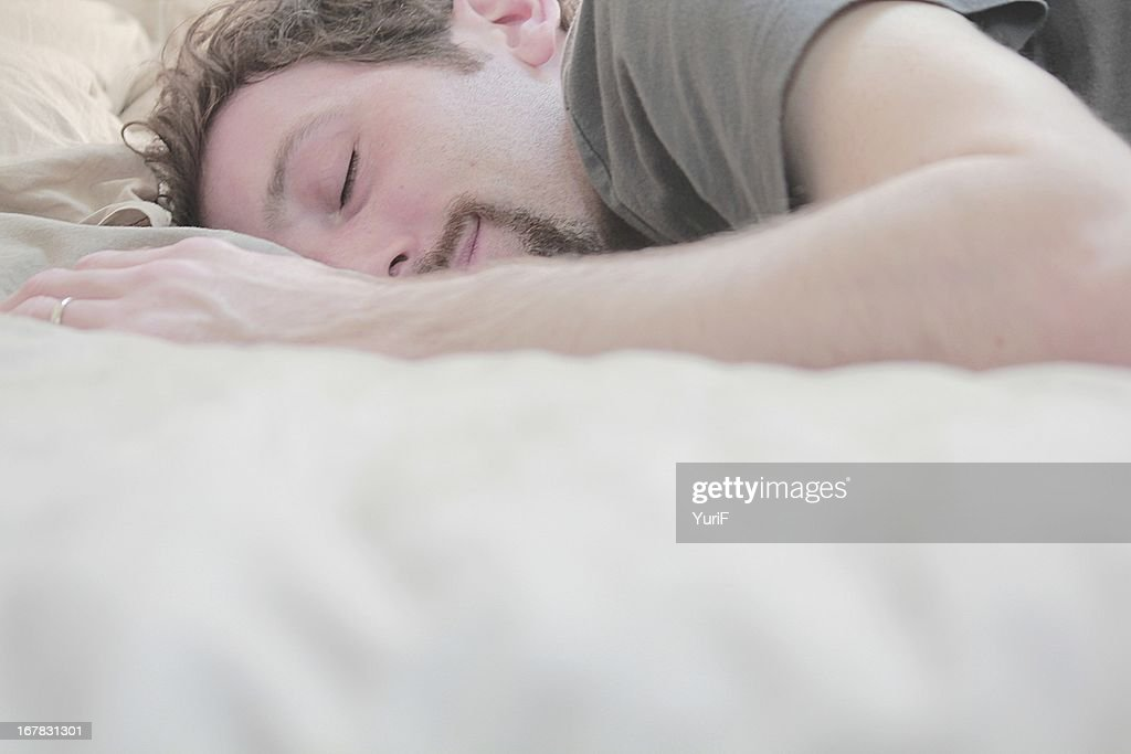 Man sleeping on the bed