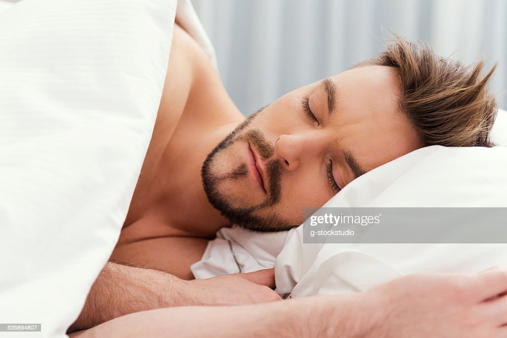 Man sleeping. : Stock Photo