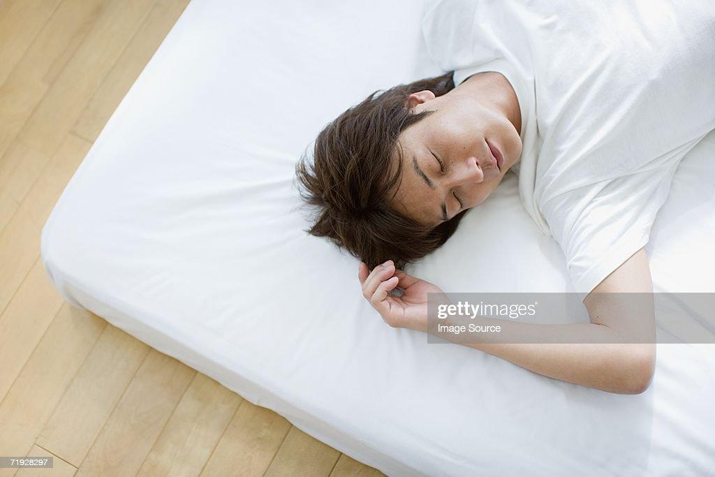 Man sleeping : Stock Photo