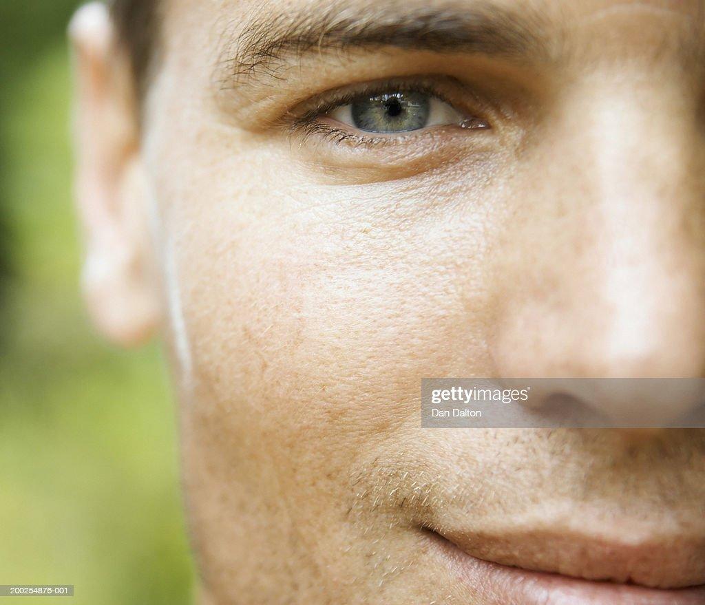 Man smiling, close-up : Stock Photo