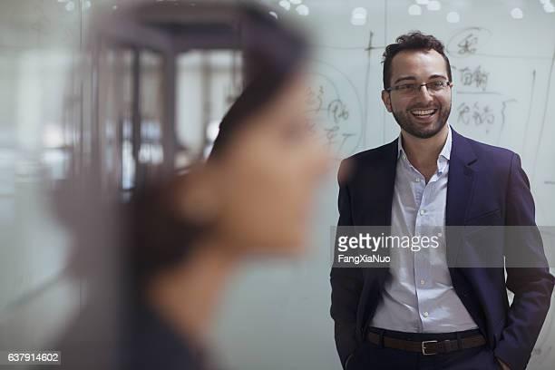 Man smiling in design studio office
