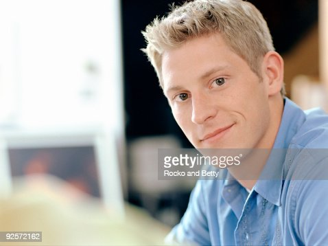Man smiling : Stock Photo