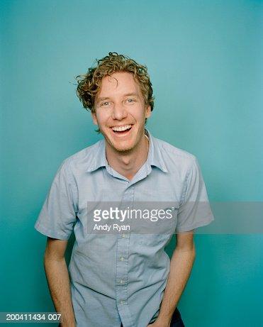 Man smiling, portrait : Stock Photo