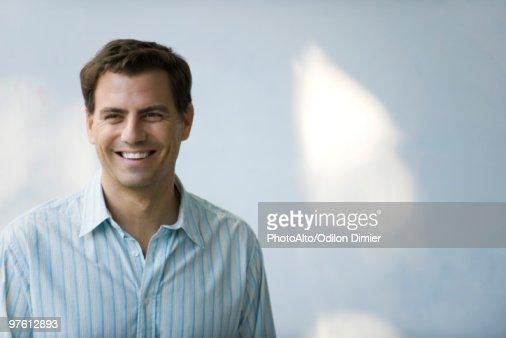 Man smiling, portrait