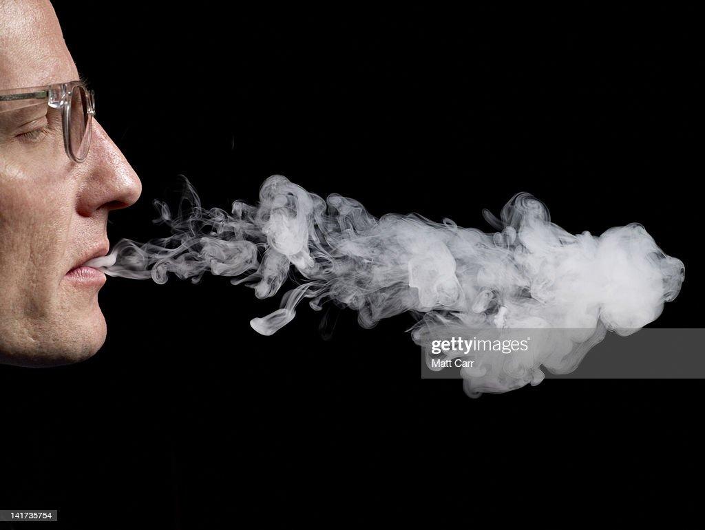 Man Smoking : Stock Photo