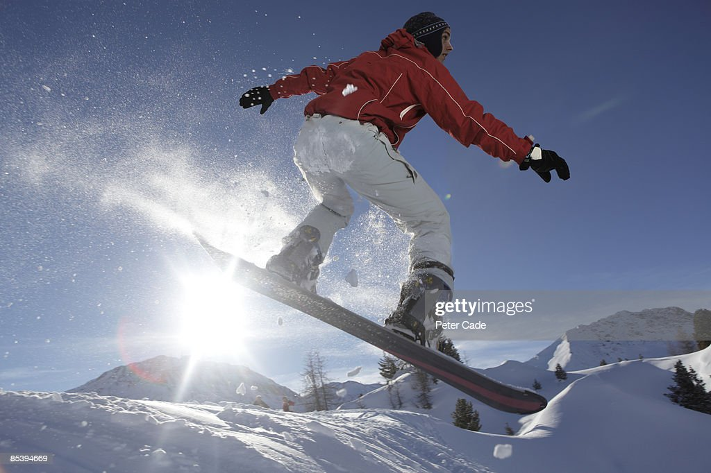 Man snowboarding : Stock Photo