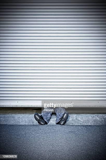 Mann gepresste von roller shutter Tür
