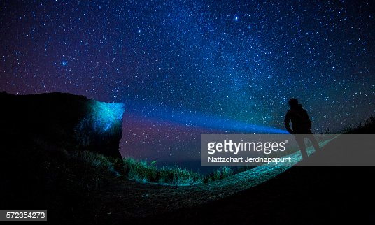Man stand under the star
