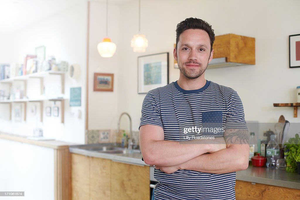 Man standing in kitchen