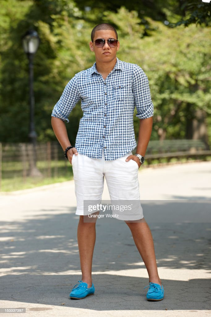 Man standing on path in park : Stock Photo