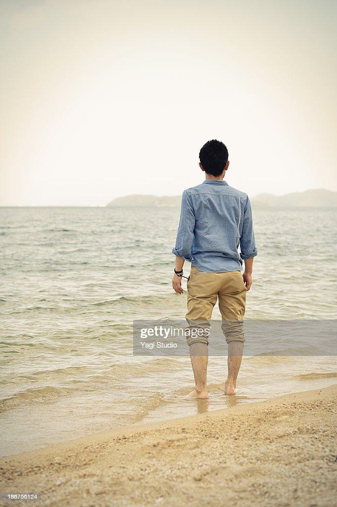 Man standing on the beach